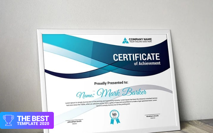 Wavy Modern Certificate Template  - digital products award
