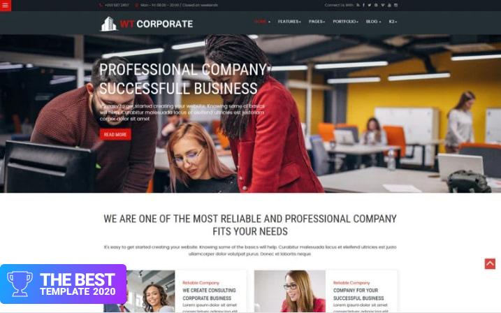 WT Corporate Business Joomla Template.