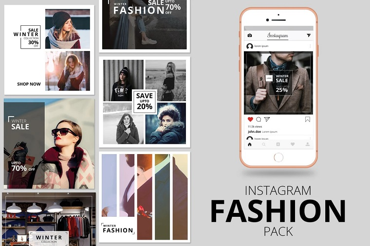 Fashion Instagram Banner Pack Social Media