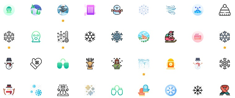 Free Winter Icons Resources.