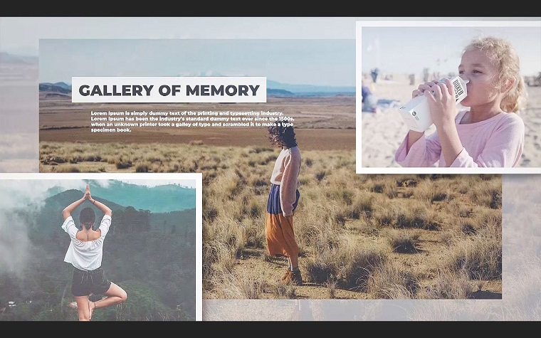 Gallery of Memories Soft Premiere Pro Template