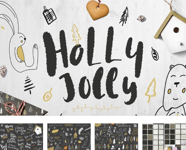 Cute Holly Jolly Winter Collection Pattern