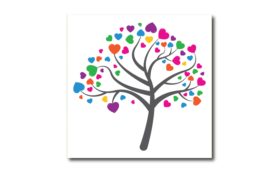 love tree illustration