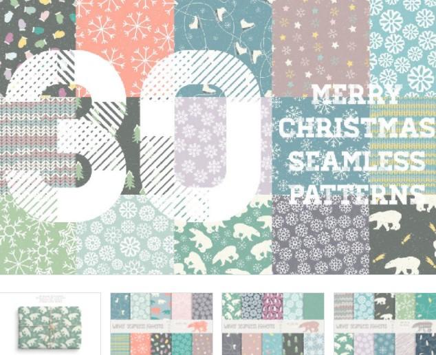 Soft Merry Christmas Winter Pattern