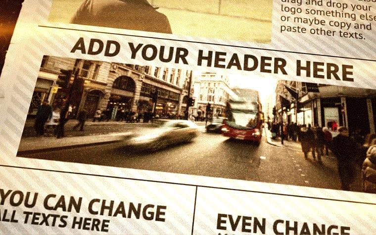 Newspaper opener