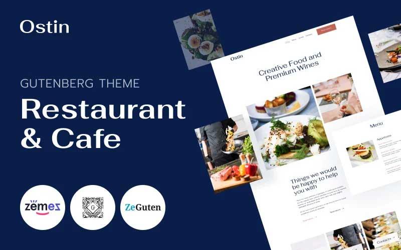 Ostin - Restaurant WordPress Theme for Gutenberg WordPress Theme