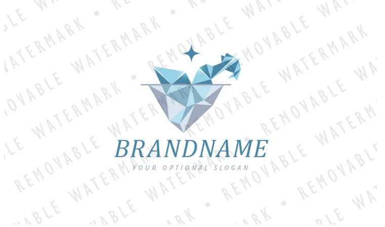 Polar Bird Iceberg Logo Template