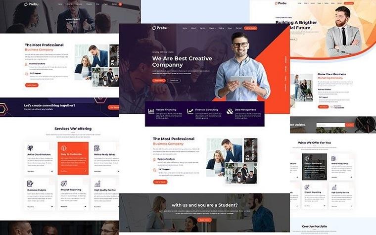 Prebu - Multipurpose Business Consulting Agency HTML.