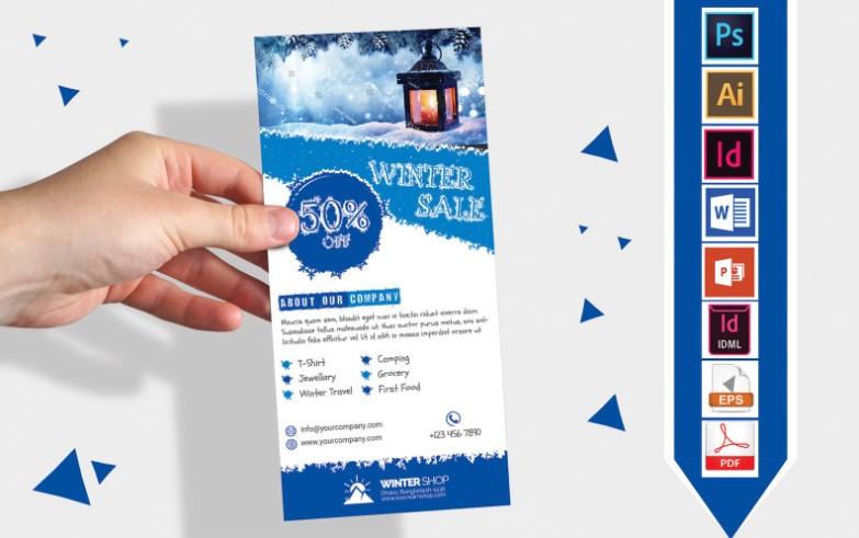 Rack Card Winter Corporate Flyer