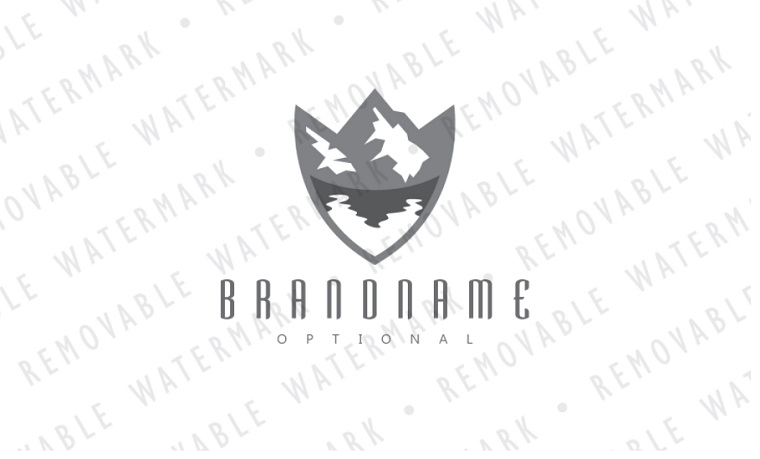 Shield of Glacial Lake Logo Template