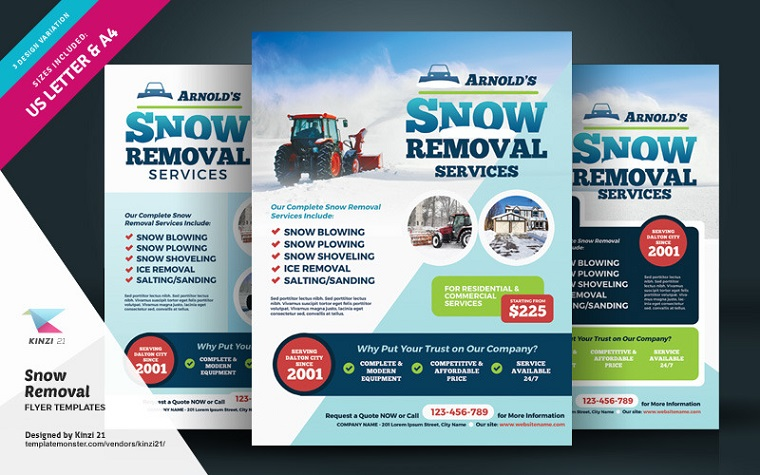 Snow Removal Flyer Corporate Identity Template