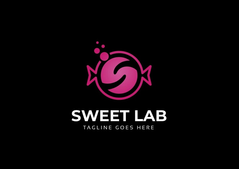 Sweet Lab Candy Logo Template