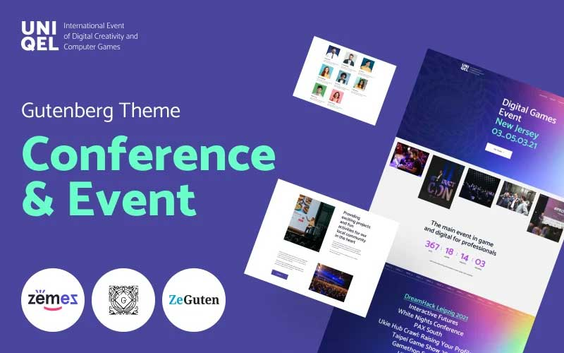 Uniqel - Conference and Event WordPress Theme
