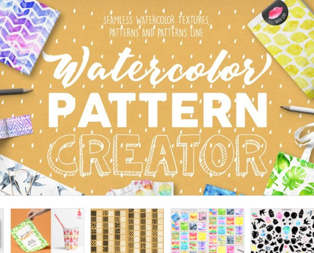 watercolor  winter patter creator