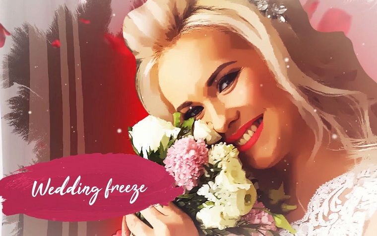 Unusual Wedding Freeze After Effects Template