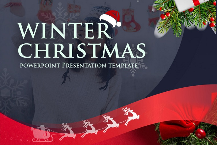 Winter Christmas PowerPoint Template