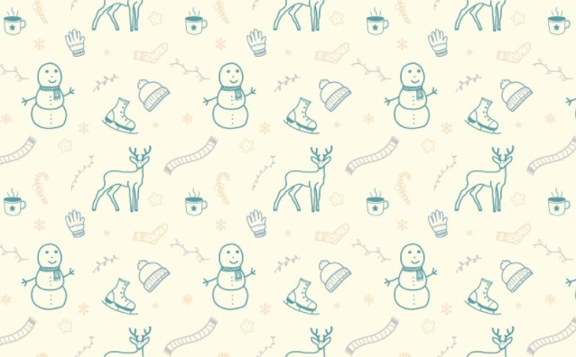 Charming Winter Doodle Pattern