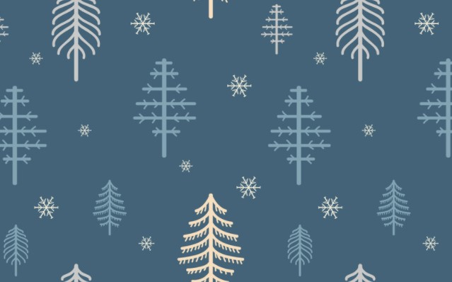 Classy Winter Pine Fir Needle Tree Pattern