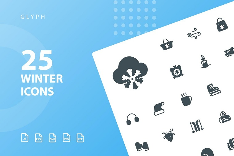 Winter Glyph Iconset Template