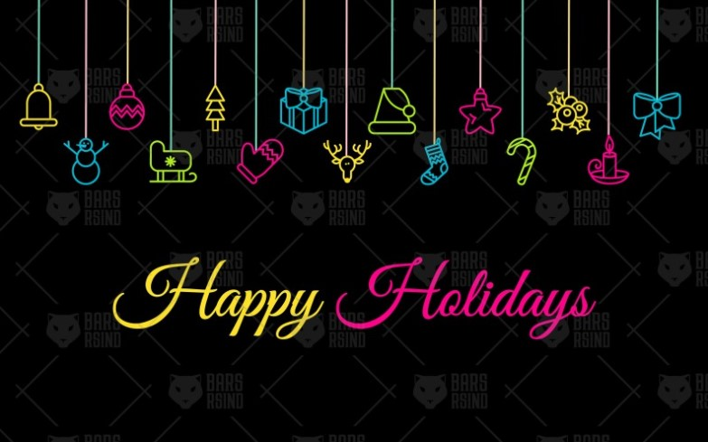Colorful Happy Holidays Winter Banner