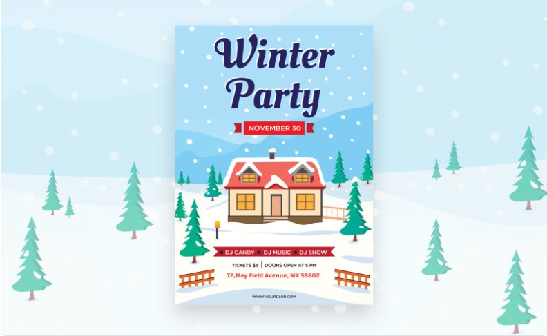 Ready-Made Winter Party Flyer Design