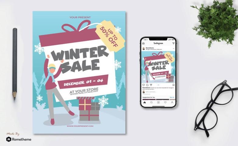 Winter Sale Corporate Identity Flyer