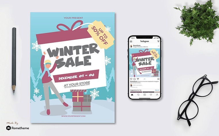Winter Sale - Flyer AS Corporate Identity Template