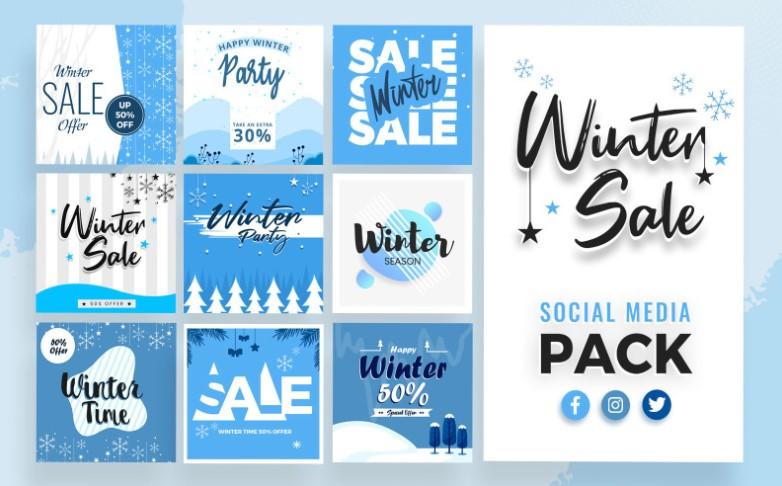 Dreamy Winter Social Media Package
