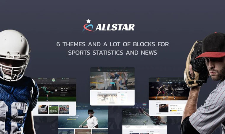 ALLSTAR Sport HTML design