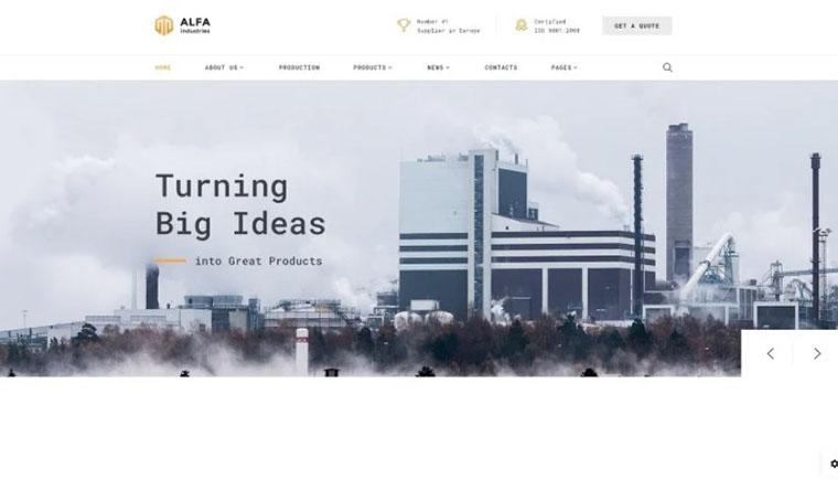 Alfa Industries - Multipage Website Template