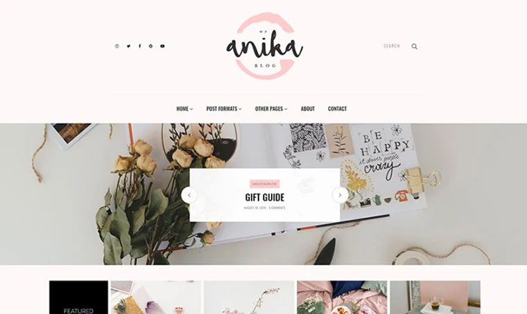 Anika - Feminine Blog Fashion WordPress theme