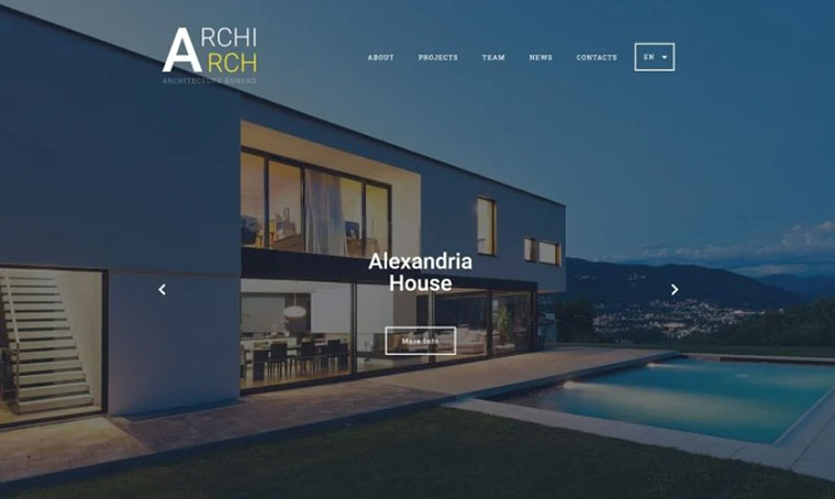 ArchiArch Real Estate HTML template