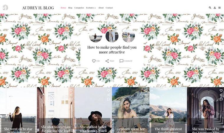 Audrey Fashion WordPress theme