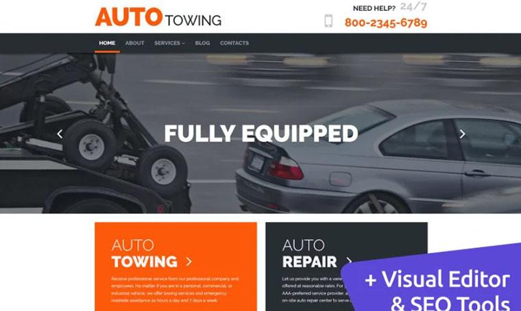 AutoTowing - Car service MotoCMS 3 Template
