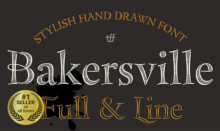 Bakersville Font digital bestseller