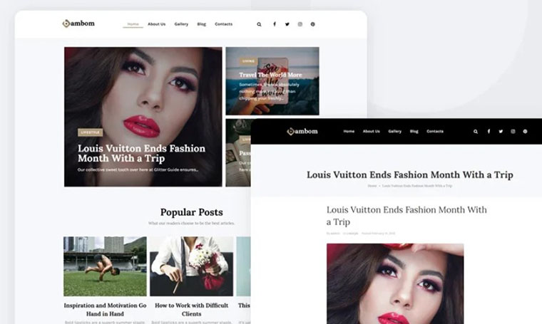 BamBom WordPress Fashion Theme