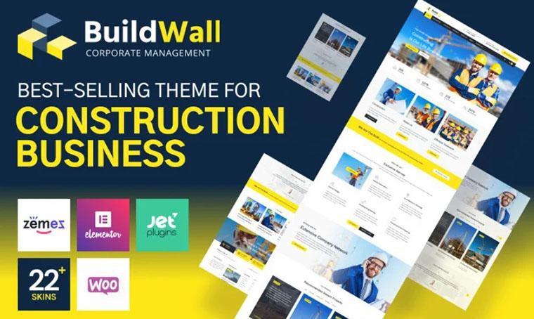 BuildWall Construction Elementor WordPress Theme