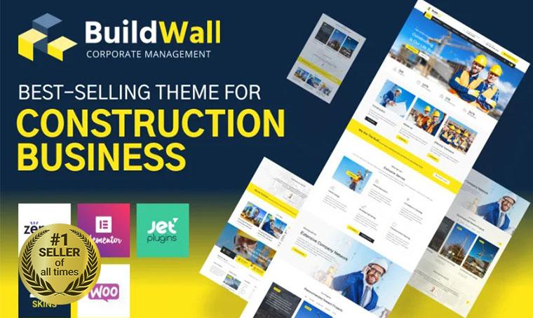 Buildwall Construction WordPress Theme