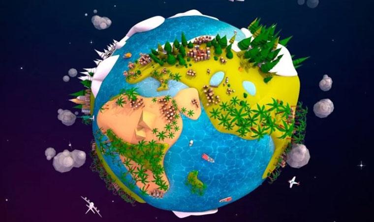 Cartoon Earth Planet 3D Model