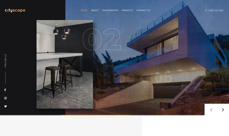 CityScape construction landing page