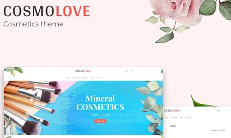 Cosmolove - Cosmetics Store fashion WordPress theme