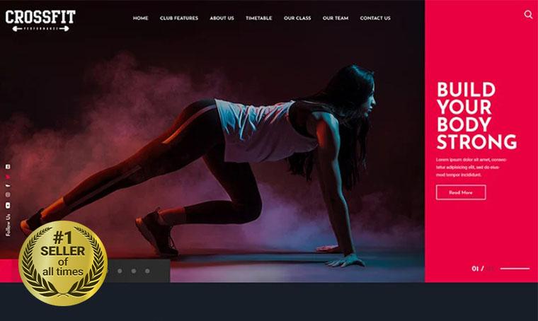 Crossfit Fitness PSD digital bestseller