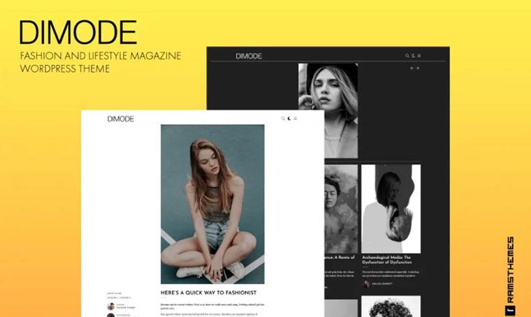 DIMODE Fashion and lifestyle WordPress theme