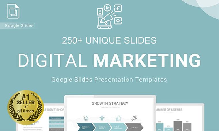 Digital Marketing Google Slides template