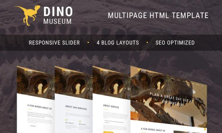 Dino - Museum HTML template