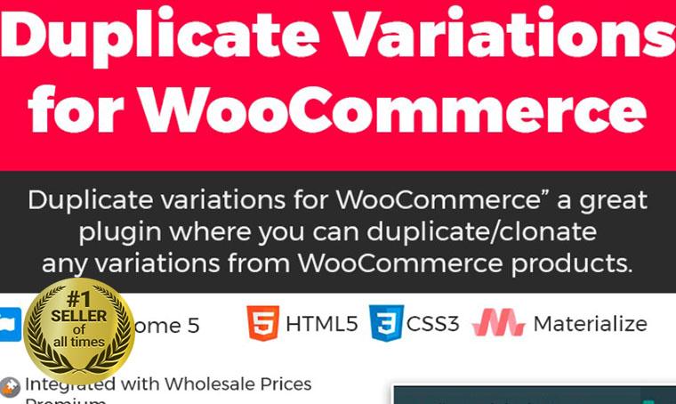 Duplicate variation for WooCommerce WordPress plugin digital bestseller