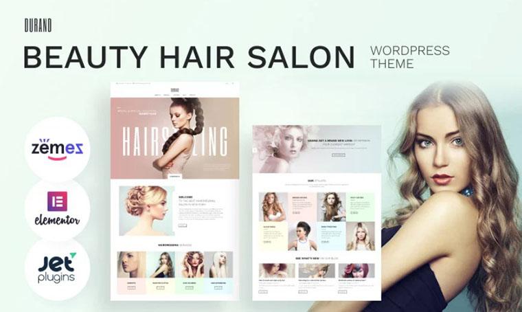 Durand - Beauty Hair Salon WordPress theme