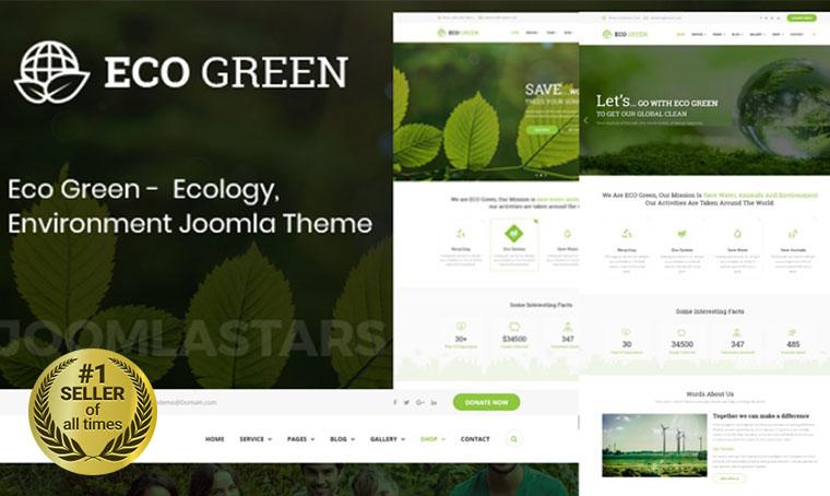 Eco Green Joomla bestseller