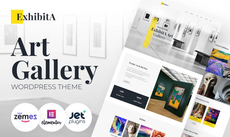 ExhibitA - Art Gallery WordPress Theme