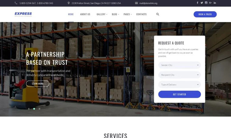 Express - logistic HTML template